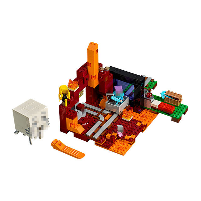 Lepin 18038 Minecraft Series The Nether Portal Model Building Blocks ...
