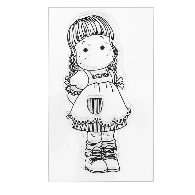 Lovely Boy Girl Clear Transparent Silicone Seal Stamp for DIY Scrapbooking Album Photo Decorative Card Making Chick Bee Stamp about lovely baby design transparent clear silicone stamp seal for diy scrapbooking photo album clear stamp paper craft cl 052