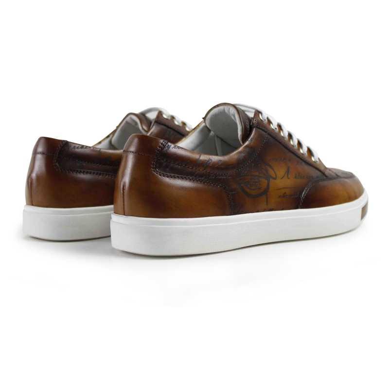 Vikeduo 2019 hot Handmade Vintage แฟชั่นแบรนด์หรูชายรองเท้าหนังผู้ชายหนังแท้รองเท้าสเก็ตบอร์ดสีน้ำตาลรองเท้า Mans