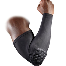 1pcs High Elastic Honeycomb Basketball Volleyball Arm Sleeve Shooting Crashproof Workouts Weightlifting Elbow Support Pads Brace