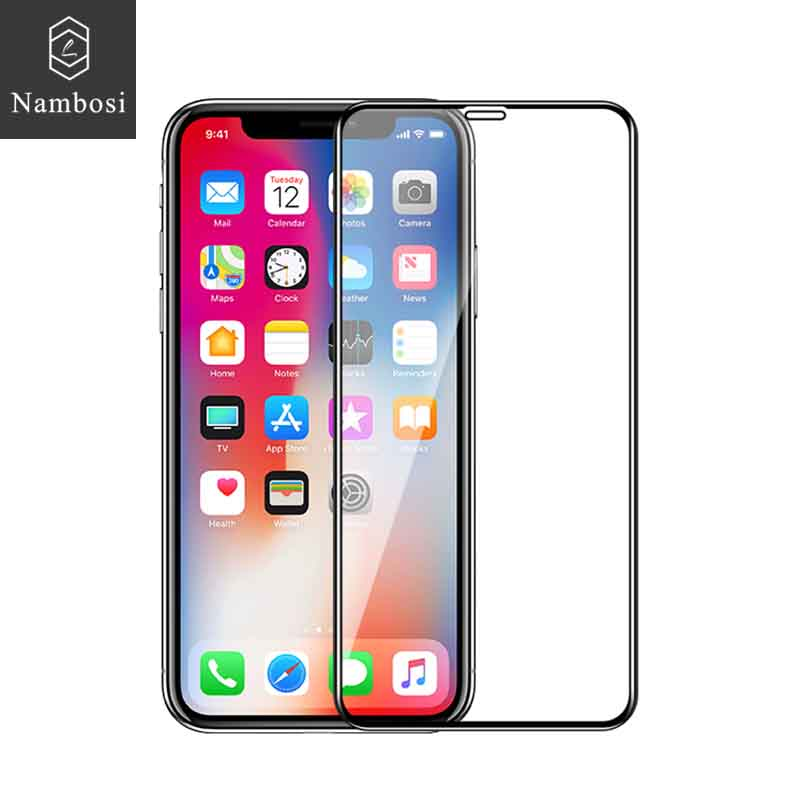Nambosi Protective glass for iphone 10 screen protector iphone x xr xs max tempered glass on the for iphone xs xr xs max x glass