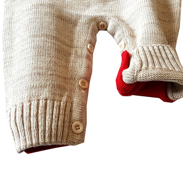 Soft Cotton Christmas Reindeer Onesie for 0-24 Months