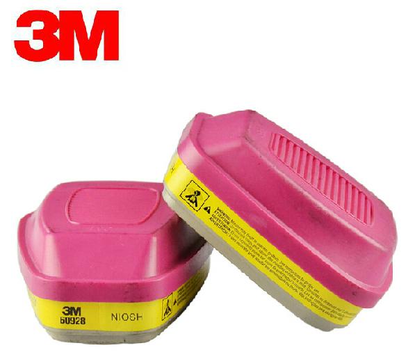 3 M 60928 de Vapor Orgánico/Ácido Cartucho Gas/P100 Filtro Estándar de Protección Respiratoria Contra CL2/HCL/SO2/H2S YY0000