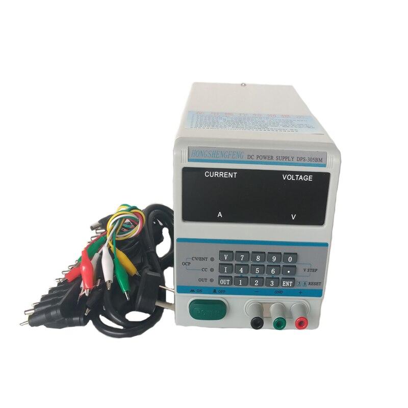 HIGH QUALITY DPS-305BM/DPS305BM 4Ps Display 220V/110V Lab Programmable DC Power Supply 30V 5A + 39/pcs Laptop Repair DC JackHIGH QUALITY DPS-305BM/DPS305BM 4Ps Display 220V/110V Lab Programmable DC Power Supply 30V 5A + 39/pcs Laptop Repair DC Jack