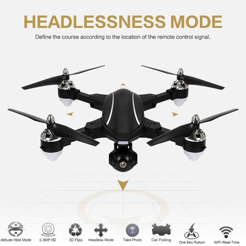 Drone Intelligent RC cardan Stable WiFi en temps réel suivi automatique GPS positionnement bimode 720 P caméra grand Angle HD quadrirotor