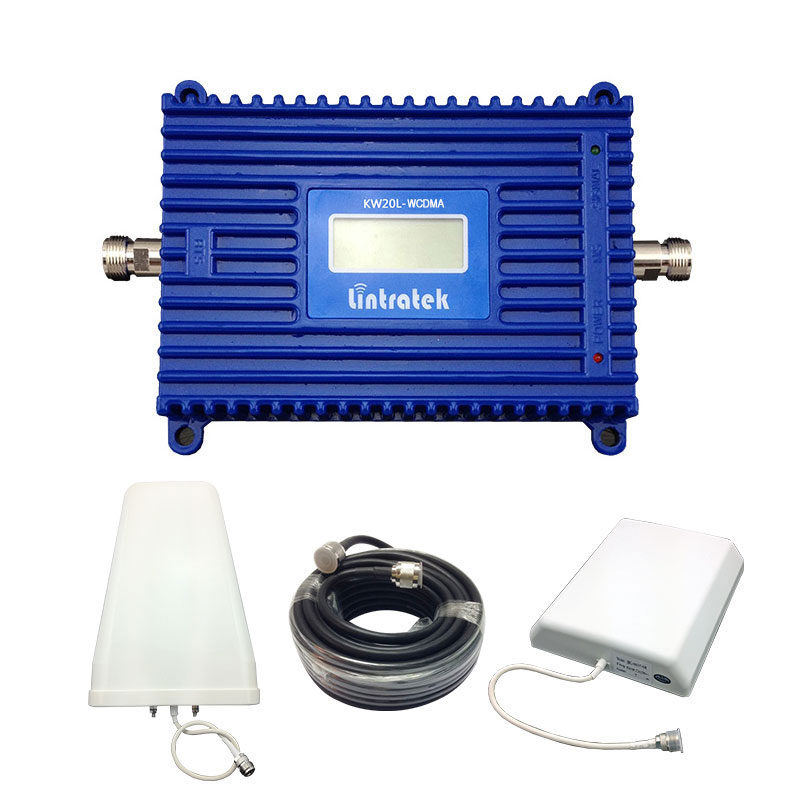 3G Repeater 2100MHz Signal Amplificador 70db 3G Repetidor 3G Booster 2100 mhz Antenna UMTS WCDMA LCD Repeater Booster Full Kits