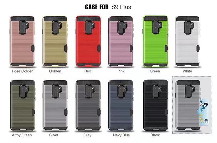 Cases for samsung S5 S6 S7 Edge Carbon Fiber Brushed Wire Drawing Silicone for samsung S8 S9 plus Mobile Phone Shell