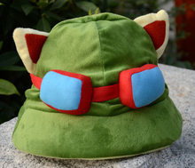 Jogo lol cosplay swift scout teemo cosplay chapéu de pelúcia alta qualidade bonito cosplay boné acessórios adereços