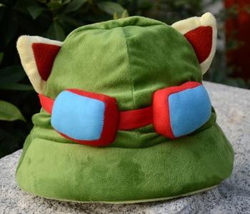 Игра LOL Косплей Swift Scout Teemo Косплей шляпа высокое качество плюшевая Милая Косплей Кепка аксессуары для косплея реквизит