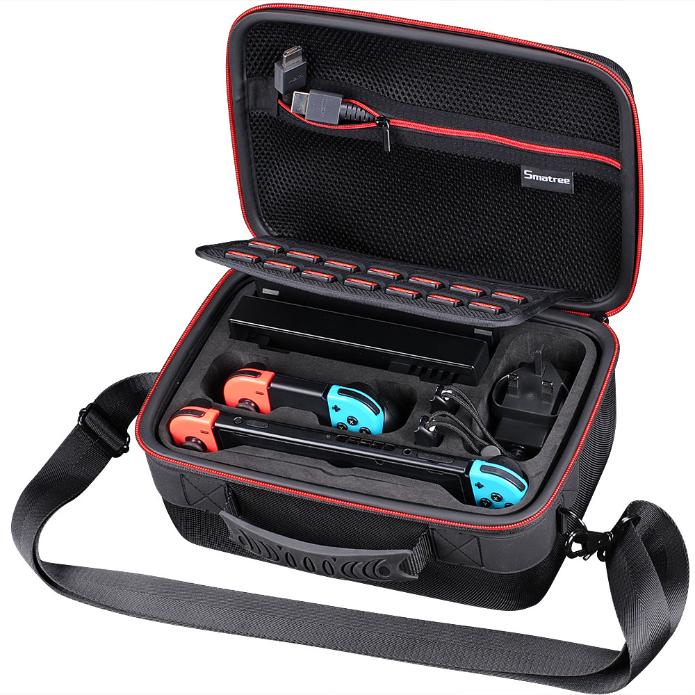 Smatree Carrying Case N500 for Nintend Switch console,dock,Nindendo Joy-Con grip,HDMI cable,AC adapter,two Joy-Con strap кейс для диджейского оборудования thon dj cd custom case dock
