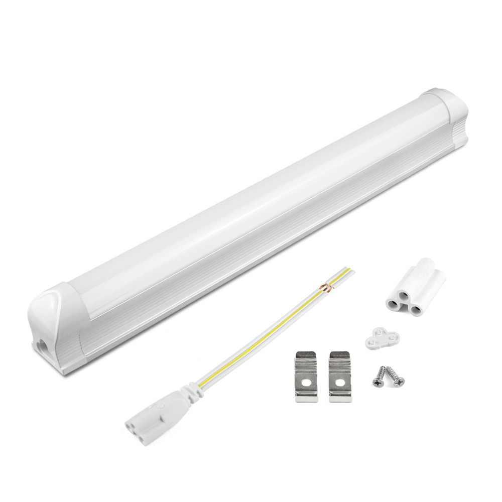 1 шт. T8 светодиодный свет бар 8Вт 12Вт 220 V супер яркая светодиодная флуоресцентная лампа ПВХ Пластик 30 см 60 см T8 интегрированная Светодиодная трубка