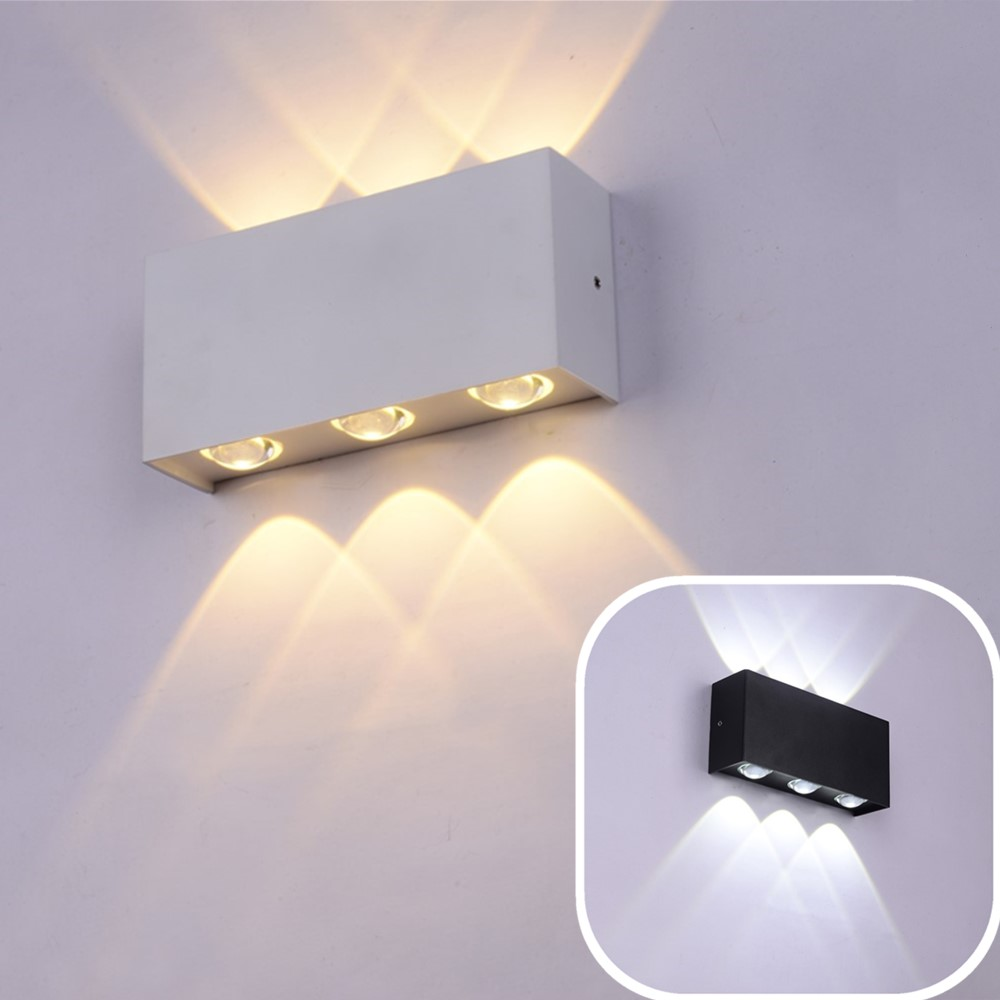 Us 23 31 30 offmodern led wall light ip65 waterproof 6w 12w die cast aluminum wall sconce indoor outdoor lighting ac90v to 260v led wall lamps in
