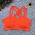Cortadas Feminino Das Mulheres Top Colheita Tanque de Sutiã Acolchoado Mulheres Lady Sólidos Envoltório Peito Strap Vest Tops BraFree