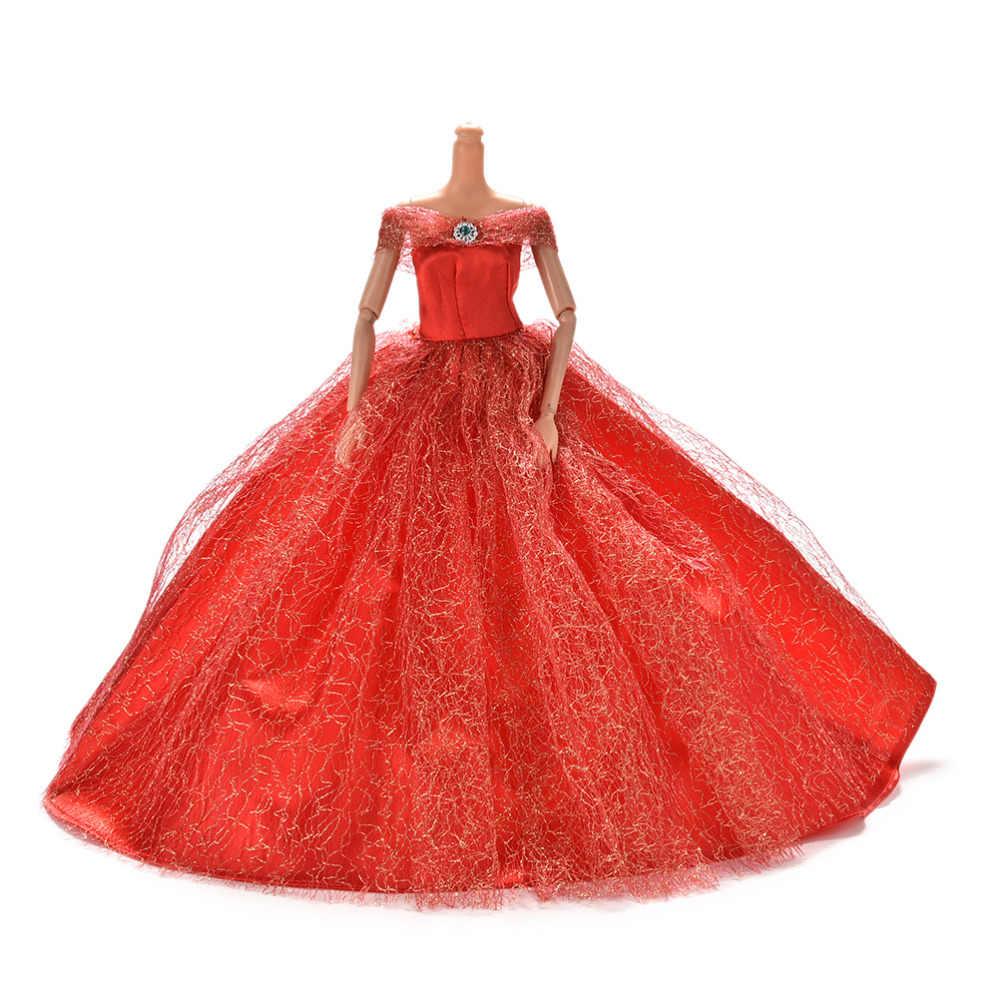 ฤดูร้อนเสื้อผ้าชุดสำหรับตุ๊กตาตุ๊กตา Handmake งานแต่งงานชุดเจ้าหญิง Beaty ตุ๊กตา PARTY 7 สี