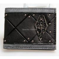 Skyrim Young Boys And Girls Students Personality Fashion Short Transverse Section 2 Fold Wallet