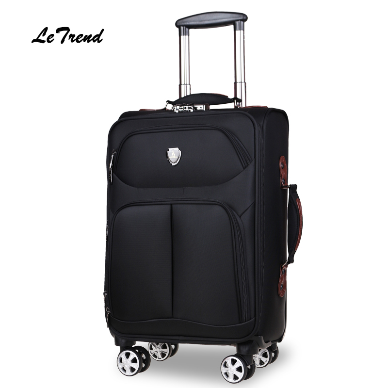цена Letrend Large Capacity 30 inch Oxford Rolling Luggage Spinner Wheel Suitcase Trolley Men password Travel Bag 20/24/28 inch