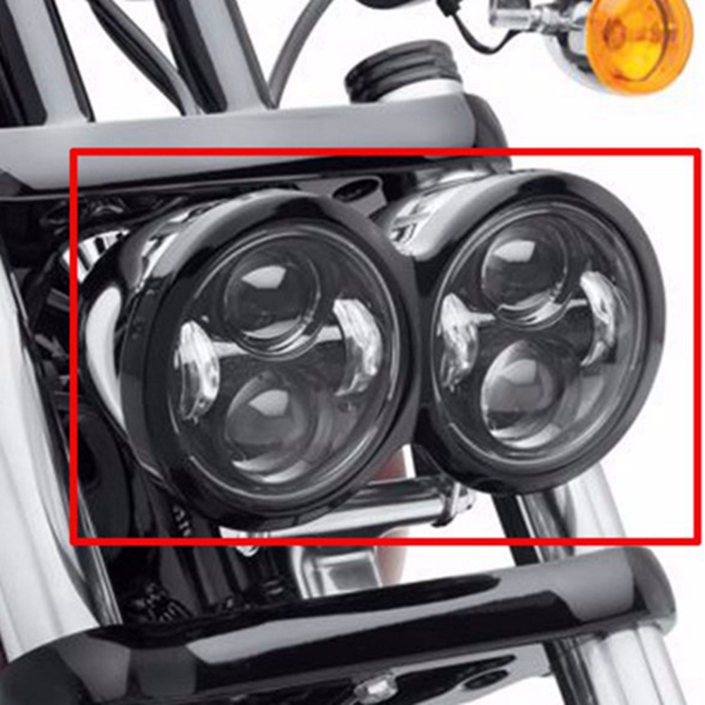 New Daymaker LED Headlamps with ring For Harley Dyna Fat Bob FXDF Model Daymaker LED Lamps 5'' Fat Bob Headlight bob weeks curling for dummies