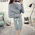 Women Sweater 2017 Spring New Fashion Knitted O-Neck Pullovers High Quality Long Sweaters Solid Pull Femme Sweter Mujer SZQ140