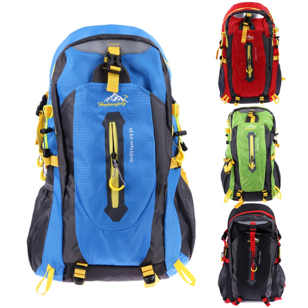 40L Waterproof Women & Men Travel Backpack Outdoor Mountain Camping Climbing Hiking Backpack Nylon Sport Bag Size 20x33x50 cm blog flashlight outdoor 5led pocket strong waterproof 8 hours to illuminate mountain climbing camping p004