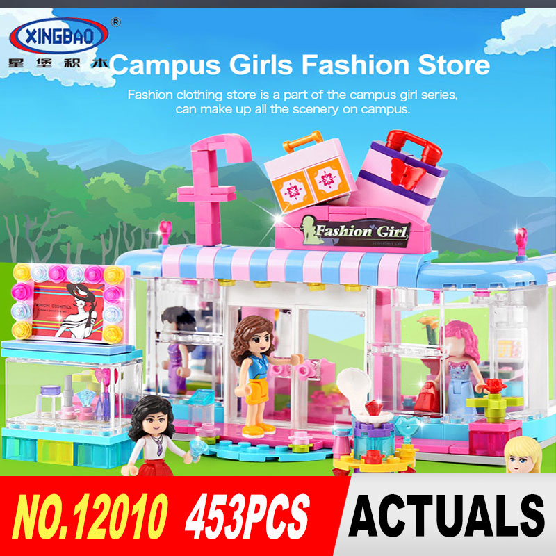 New XingBao 12010 453Pcs City Girls Series The Fashion Clothing Store Set Building Block ...