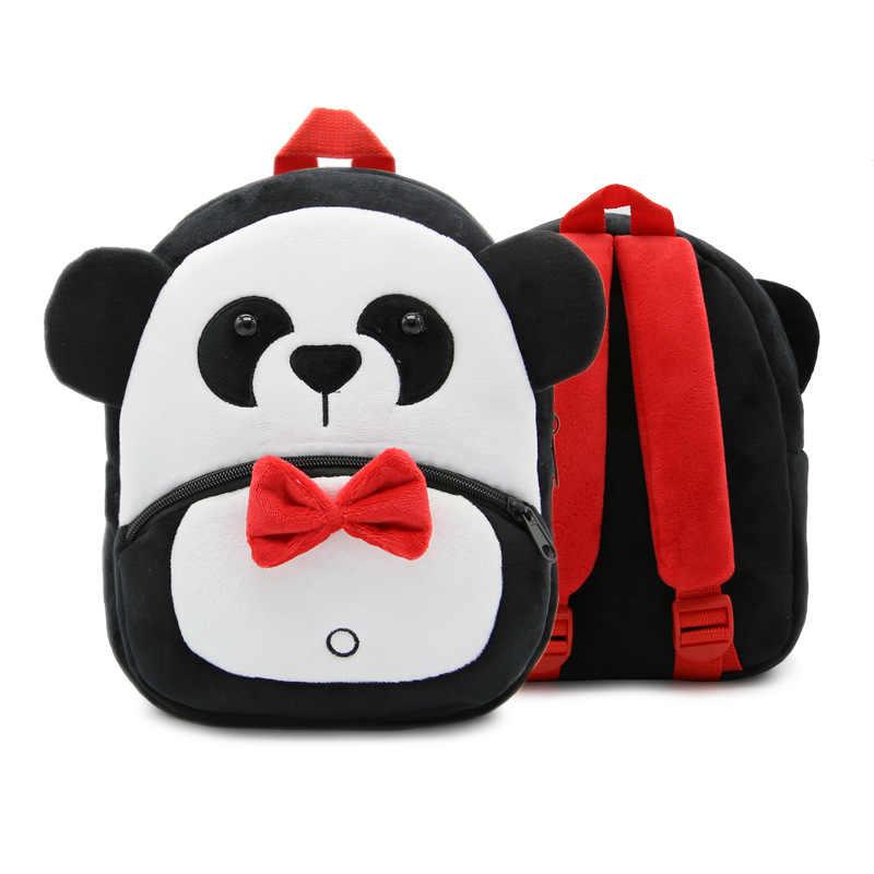 Милые детские плюшевые рюкзаки игрушки животные панда мини школьный ребенок милые школьные сумки для детей мальчик девочка подарок на день рождения