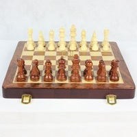 High Quality Large Pear Wooden Magnetic Chess Piece Box Upscale Beautiful Atmosphere