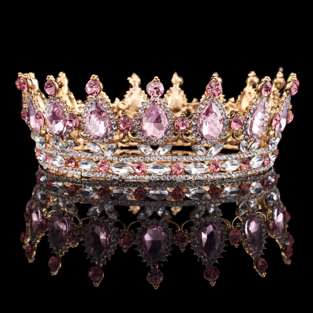 Crowns full circle round tiaras rhinestones crystal wedding bridal - Pageant Full Circle Luxury Tiara Marquise Rhinestones King Queen Crown Wedding Bridal Crown Hair Ornaments