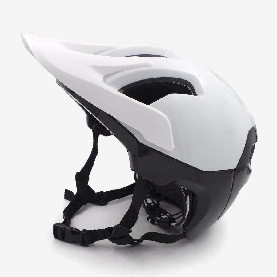 Vtt casque de vélo adultes rouge plein vtt sport homme vélo visière De Sécurité pvc descente casque piste bmx accessoires 2018