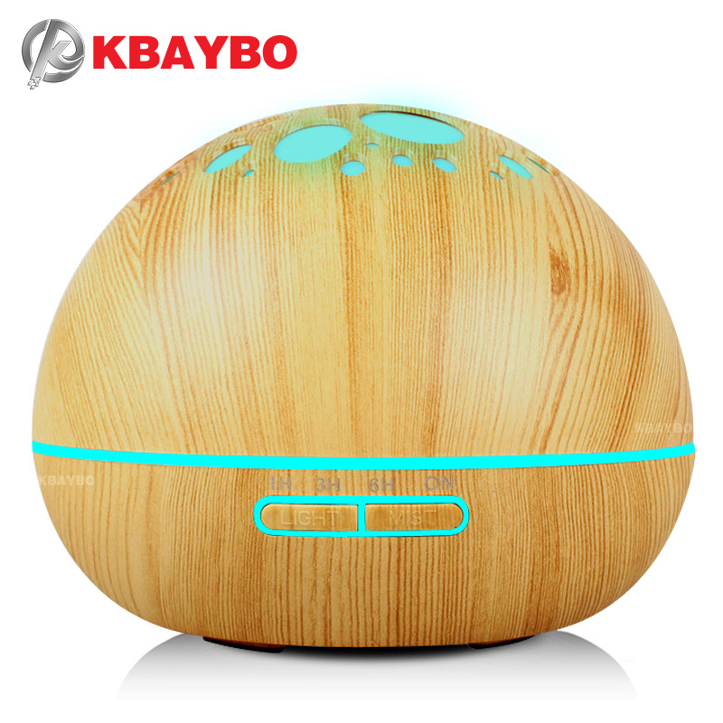 KBAYBO aroma air humidifier essential oil diffuser led night lights for home electric ultrasonic air diffuser fogger mist maker