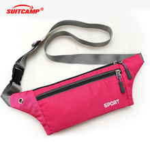 Running Bag Waterproof Sports Chest Shoulder Bags Belt Bum Pouch Unisex Waistbag Hiking Zip Bag Running Belt Waist недорого