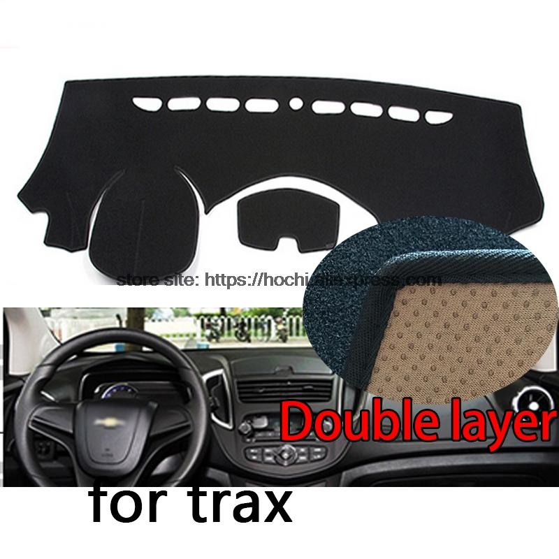 For chevrolet Trax Double layer Silica gel Car Dashboard Pad Instrument Platform Desk Avoid Light Mats Cover Sticker for toyota crown 2004 2016 double layer silica gel car dashboard pad instrument platform desk avoid light mats cover sticker