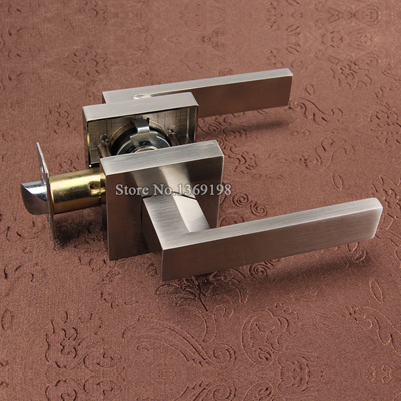 High Quality Stainless Steel Privacy Door Lock Entry Passage Door Lever Lock Fire Door Aisle Lock Background Door Handle Lock 304 stainless steel tube wells lock hospital shopping public entrance passage fire door handle lock security escape lever lock