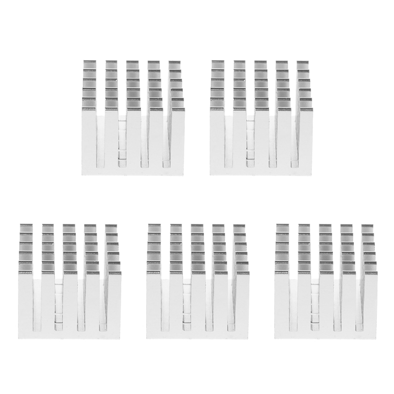 5Pcs/Set 20x20x15mm Cooling Heatsink CPU <font><b>GPU</b></font> IC Chip Aluminum Heat Sink Radiator Heatsink Pad image