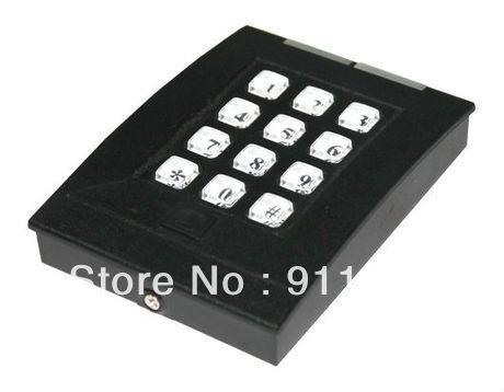 Wg26 / 34 125 KHZ RFID / EM porta bloqueio de acesso leitor de cartão impermeável com senha do teclado 2000 usuários de cartão