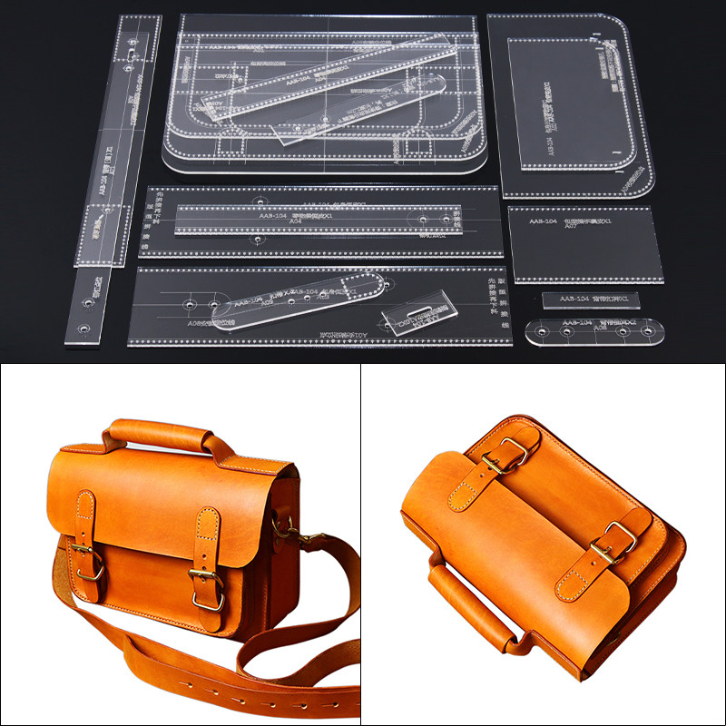 1Set Acrylic Template Pattern For Lovely Shoulder Bag Soft Leather Craft Pattern DIY Simple Style Bag Stencil Sewing Pattern