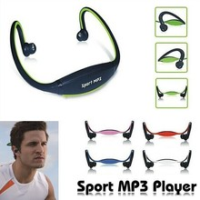 Sport MP3 WMA Music Player Wireless Headset Headphone Earphone Support TF/ Micro SD Card Slot Free Shipping