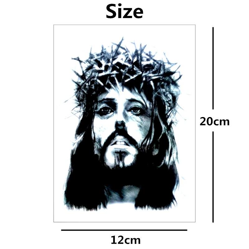 Shnapign Jesús Con La Corona De Espinas Temporal Cuerpo Arte Brazo