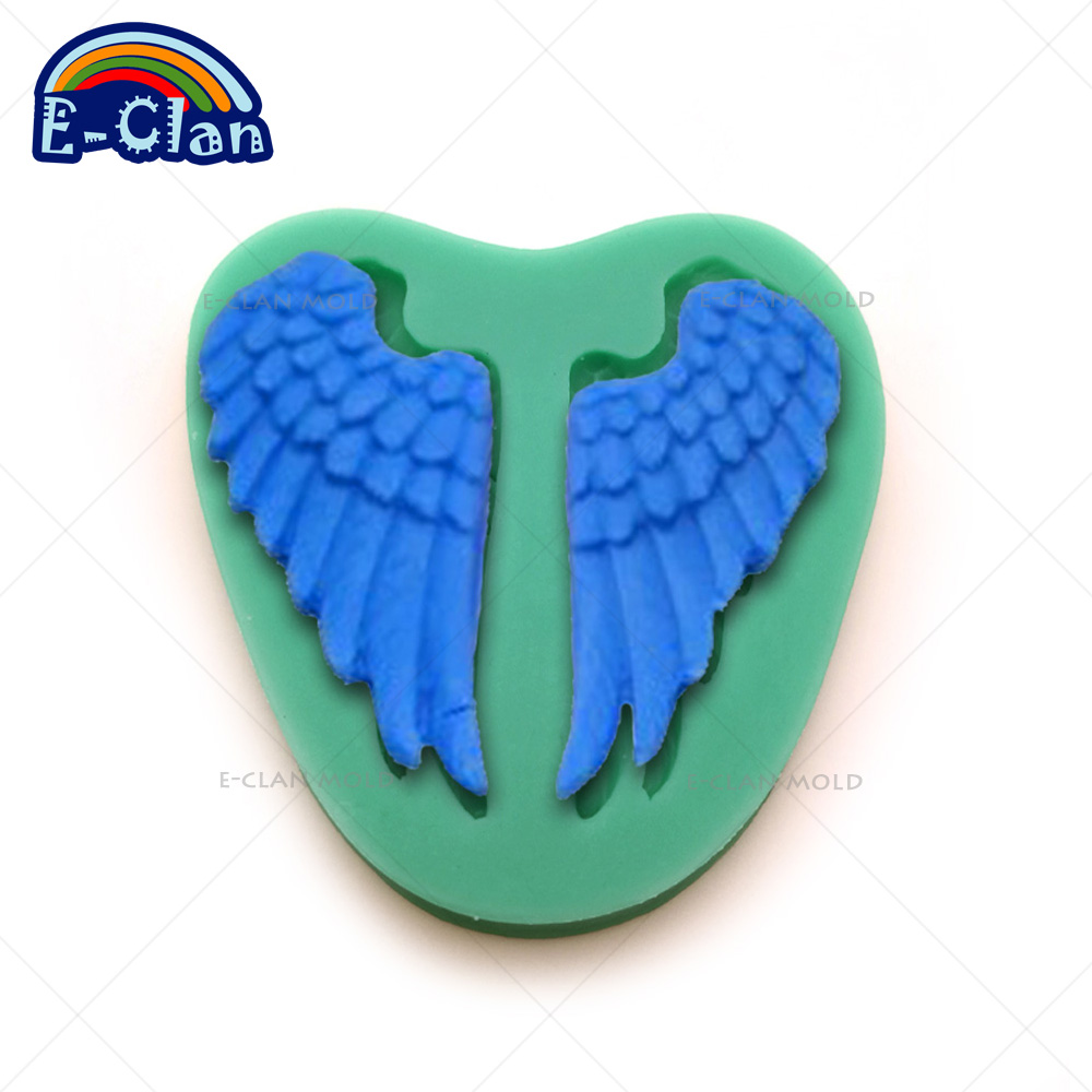 ᗐNew arrival Angel wings silicone fondant cake molds Chocolate chip ...
