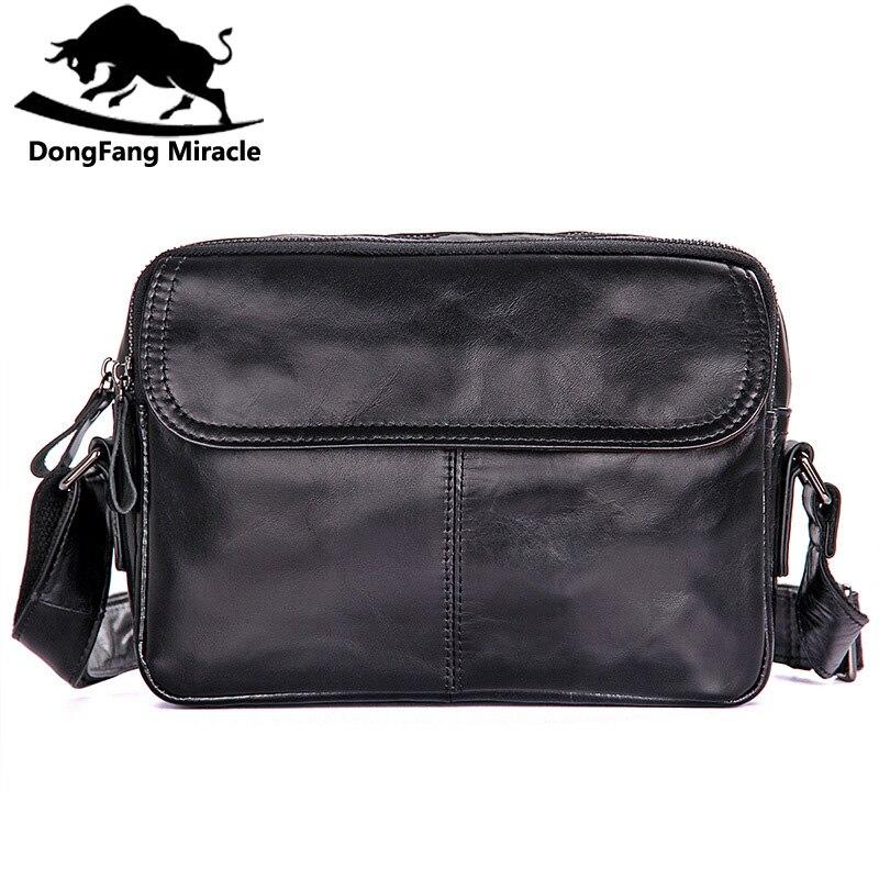 Nouveaux sacs pour hommes en cuir de vache véritable sac à bandoulière en cuir petit sac Messenger sac à bandoulière pour homme IPAD
