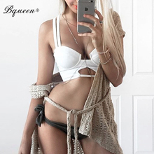 Bqueen 2017 Hot Style New Sexy Hollow Out Strap Short Bandage Crop Top  Camis Tank