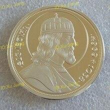 40 мм сувенирная монета с медалью короля Стефана I