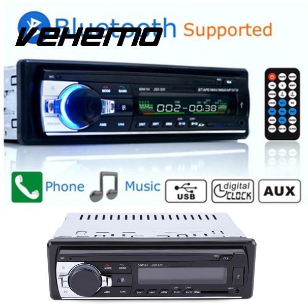 VEHEMO 3 Inches LCD Display RC Car Radio Bluetooth Stereo MP3 WMA Audio Player JSD 520