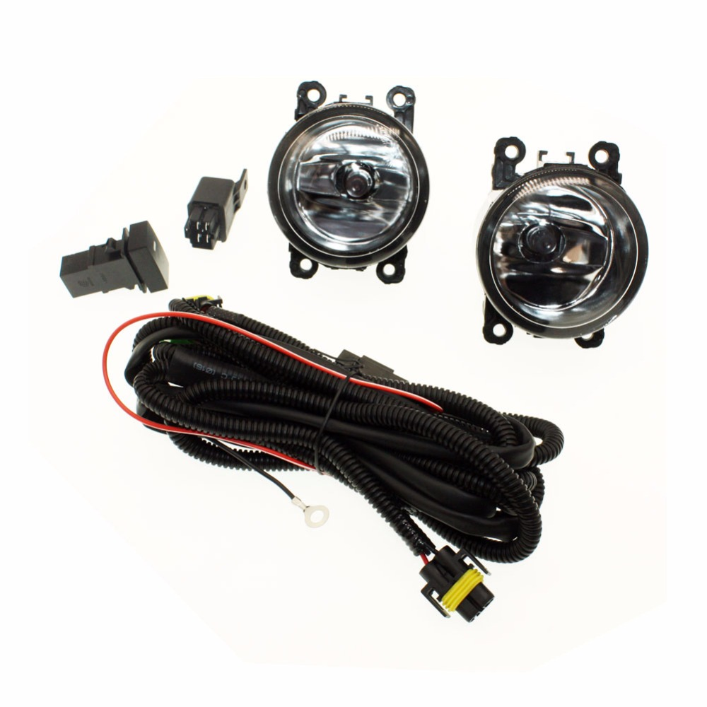 For Subaru Outback 2010-2012  H11 Wiring Harness Sockets Wire Connector Switch + 2 Fog Lights DRL Front Bumper Halogen Car Lamp for subaru outback 2010 2012 h11 wiring harness sockets wire connector switch 2 fog lights drl front bumper 5d lens led lamp