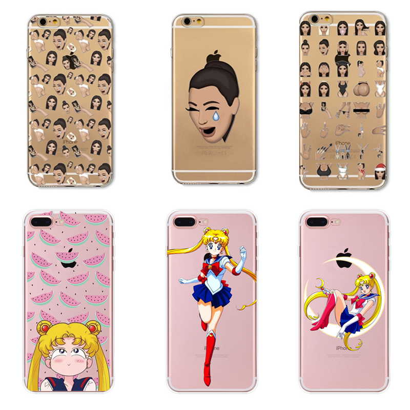Cartoon Sailor Moon Funny Face Kimoji Kim Phone Case Cover