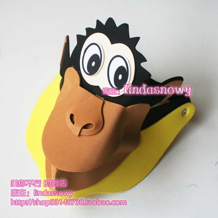 Kindergarten toy animal style hair accessory animal hat child the jocko hat hair accessory