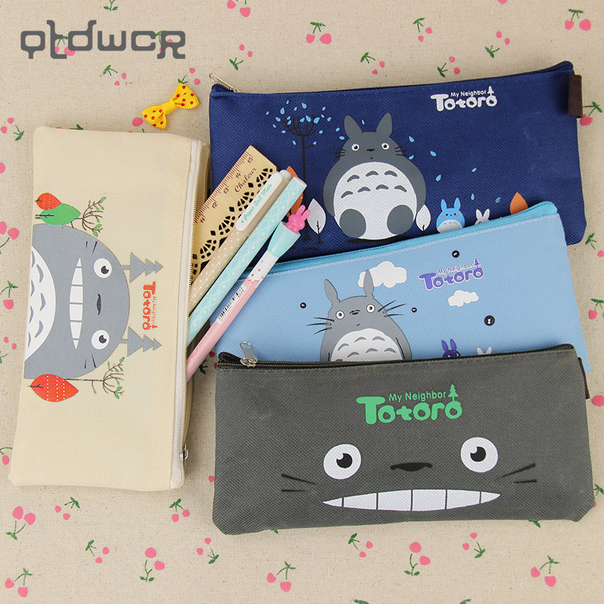Kawaii My Neighbor Totoro Oxford Cloth Pen Bag Case Holder Storage Pencil School Supplies
