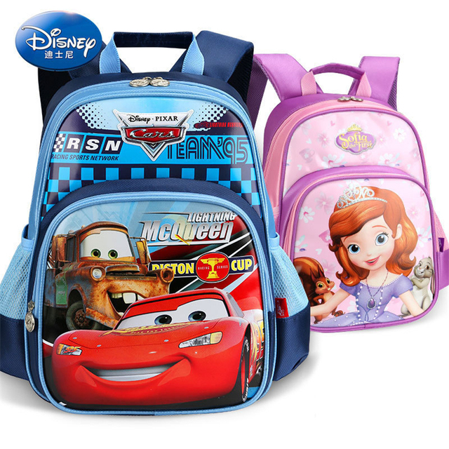 bc5c310b94 Disney Princess Frozen Waterproof Backpack School Bags for Boys Girls  Cartoon Minnie Sophia Schoolbag Kids Satchel Grade 1-3