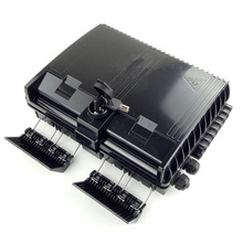 Boîtier de terminaison à fibers optiques 16 cœurs boîtier de distribution de fibers optiques 16 ports boîtier de répartiteur de boîtes à fibers optiques 2X16 cœurs FTTX noir