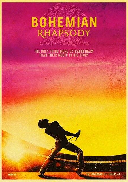 Vintage Bohemian Rhapsody Freddie Mercury Queen 2018 Musical Movie Poster Kraft Paper Modern Home Room Wall Decor