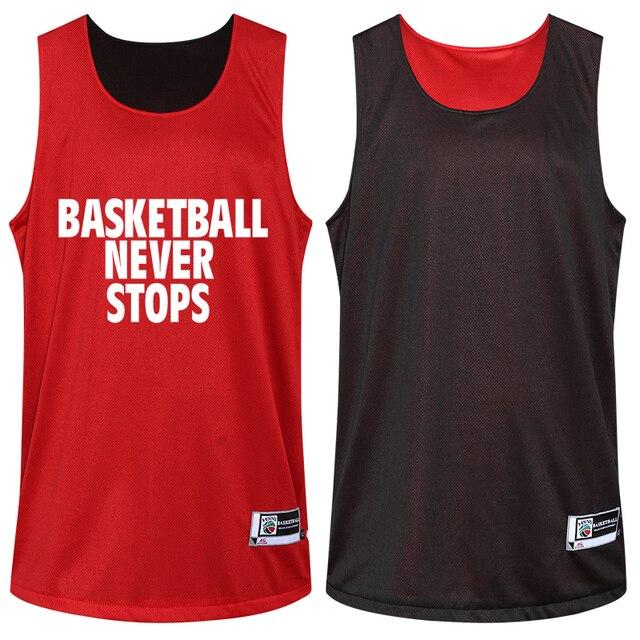 19ab85d95a94 Traje de baloncesto Reversible de doble cara para hombre camisa y  pantalones cortos estampado ropa deportiva